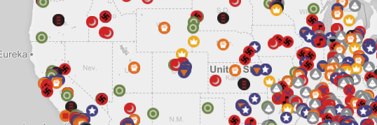 This Map Tracks All 917 Hate Groups In The United States NewNowNext