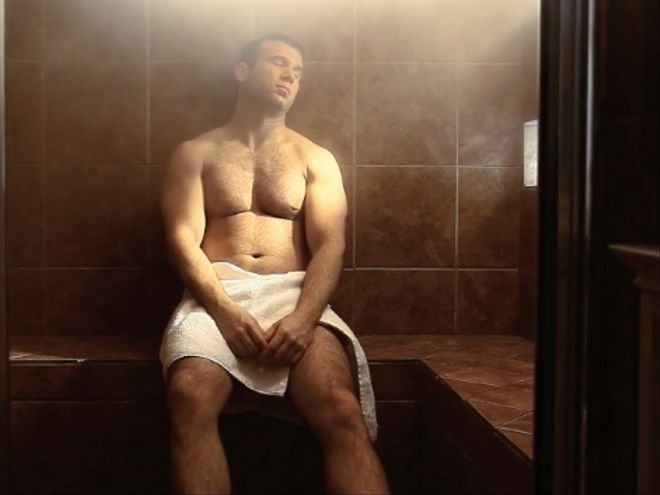 """A Spa Spy Looks For More Than A """"Rubdown"""" In Dennis Hensley's Gay Short."""