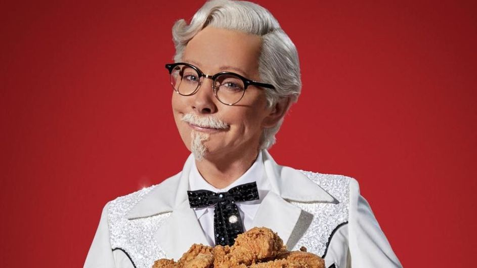 06a94c2689729 Reba McEntire Does Colonel Sanders Drag For KFC Ad Campaign
