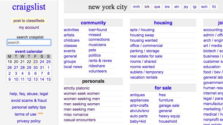 Bill Shuts Down Craigslist's Personals Section: Where Will