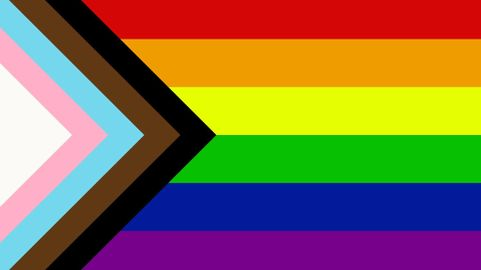 Image result for rainbow, trans, non binary flag