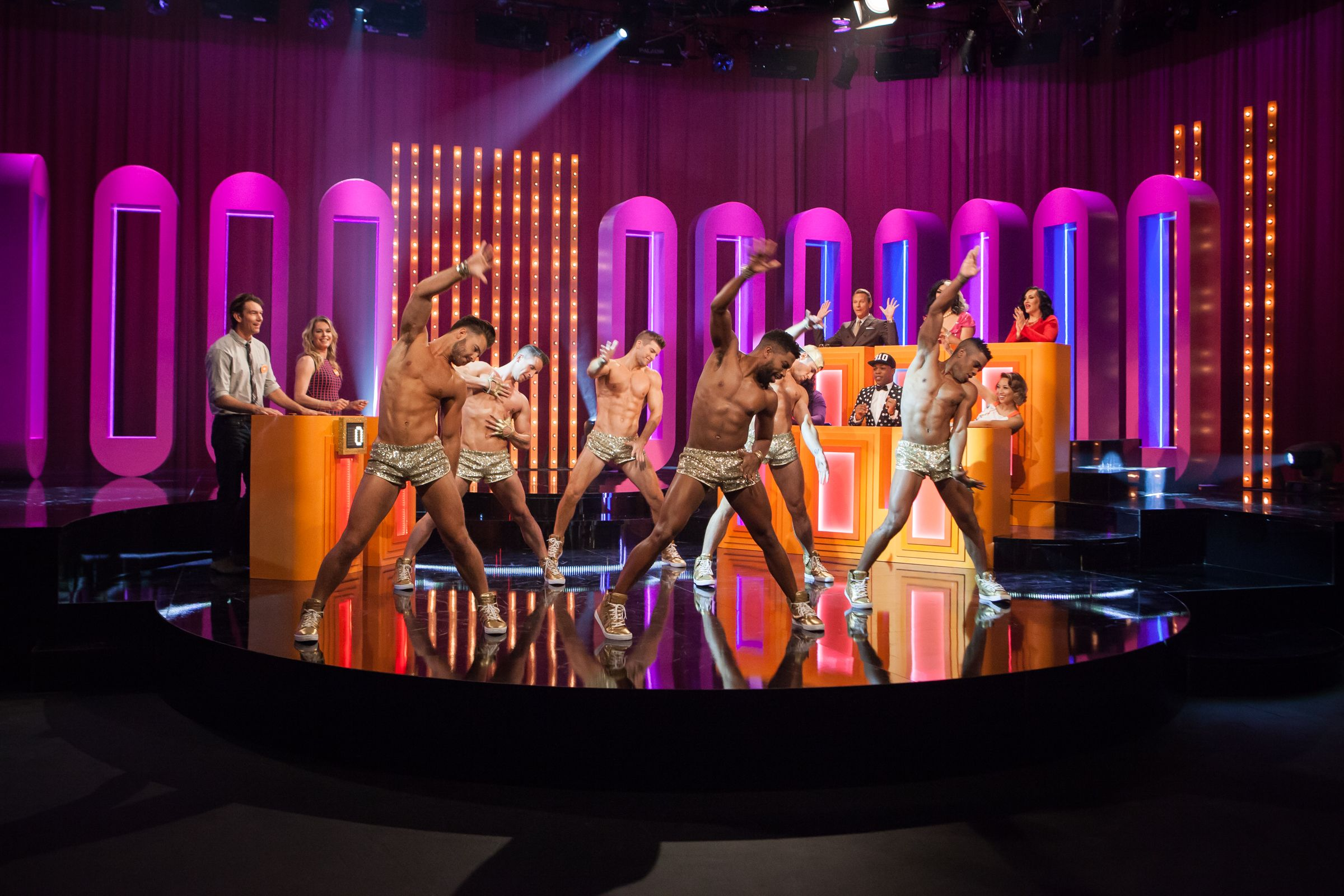 Play game show starring rupaul featuring rebecca romijn logotv com