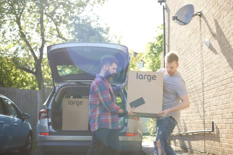 gay couple moving in