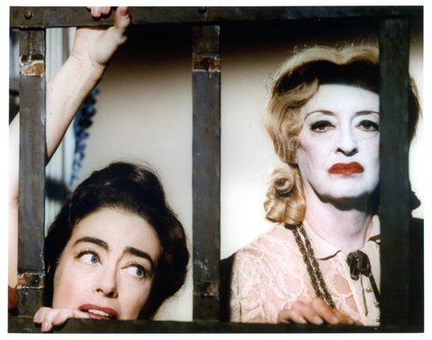 Joan Crawford and Bette Davis publicity portrait for the film 'What Ever Happened To Baby Jane?', 1962. (Photo by Warner Brothers/Getty Images)