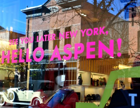 ASPEN, CO - OCTOBER 11, 2012: A Kate Spade designer clothing shop is among the upscale stores in Aspen, Colorado. (Photo by Robert Alexander/Archive Photos/Getty Images) 5104602RA_Aspen60.jpg