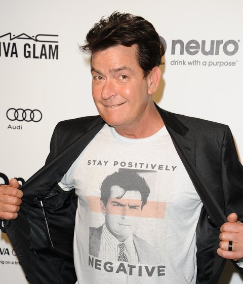 WEST HOLLYWOOD, CA - FEBRUARY 28:  Actor Charlie Sheen attends the 24th annual Elton John AIDS Foundation's Oscar viewing party on February 28, 2016 in West Hollywood, California.  (Photo by Jason LaVeris/Getty Images)