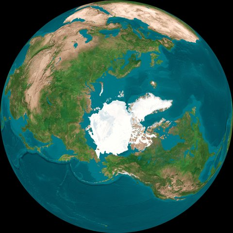 Aerial Globe of Earth From Top of the World