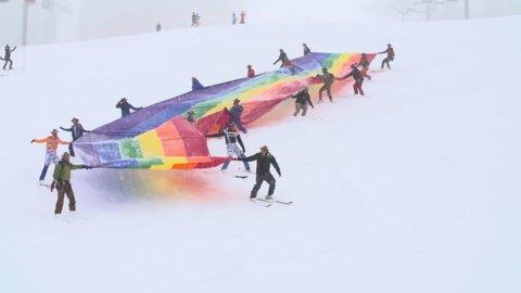 downhill rainbow