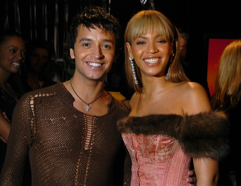 Jai Rodriguez and Beyonce Knowles during VH1 Big In '03 - Backstage and Audience at Universal Amphitheater in Universal City, California, United States. (Photo by KMazur/WireImage for VH-1 Channel - New York)