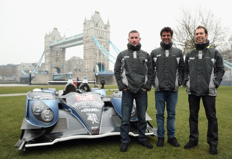 LONDON, ENGLAND - MARCH 22:  (l to r) Strakka Racing drivers Danny Watts, Nick Leventis and Jonny Kane pose during the 2013 FIA World Endurance Championship Photo Call on March 22, 2013 at Potters Fields in London, England.  (Photo by Bryn Lennon/Getty Images)
