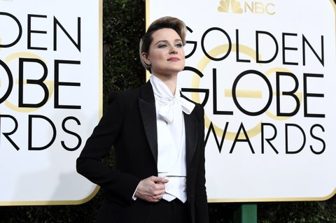 BEVERLY HILLS, CA - JANUARY 08:  74th ANNUAL GOLDEN GLOBE AWARDS -- Pictured: (l-r) Actress Evan Rachel Wood arrives to the 74th Annual Golden Globe Awards held at the Beverly Hilton Hotel on January 8, 2017.  (Photo by Kevork Djansezian/NBC/NBCU Photo Bank via Getty Images)