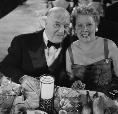 LOS ANGELES,CA - MARCH 7,1955: Actress Vivian Vance poses with co star William Frawley during the Emmy Awards in Los Angeles,CA. (Photo by Earl Leaf/Michael Ochs Archives/Getty Images)