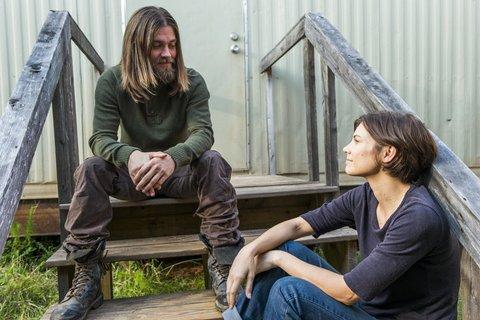 Lauren Cohan as Maggie Greene, Tom Payne as Paul 'Jesus' Rovia - The Walking Dead _ Season 7, Episode 14 - Photo Credit: Gene Page/AMC