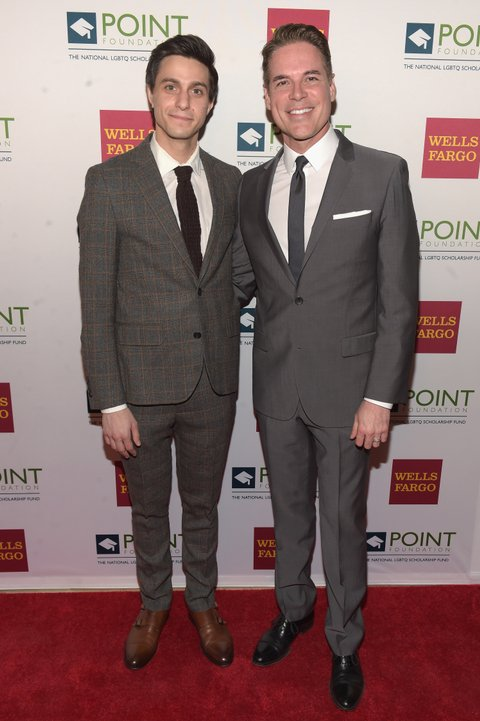 NEW YORK, NY - APRIL 03:  Broadway actor Gideon Glick and Executive director and CEO of Point Foundation, Jorge Valencia attend the Point Honors Gala at The Plaza Hotel on April 3, 2017 in New York City.  (Photo by Jason Kempin/Getty Images for Point Foundation)