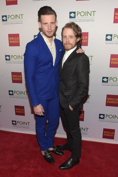 NEW YORK, NY - APRIL 03:  Actor and model Nico Tortorella and Ian Daniel attend the Point Honors Gala at The Plaza Hotel on April 3, 2017 in New York City.  (Photo by Jason Kempin/Getty Images for Point Foundation)