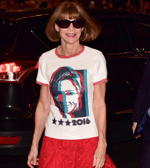 NEW YORK, NY - OCTOBER 17:  Anna Wintour attends Hillary Victory Fund - Stronger Together concert at St. James Theatre on October 17, 2016 in New York City.  (Photo by James Devaney/GC Images)
