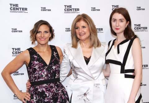 NEW YORK, NY - APRIL 20: Glennda Testone, Isabella Huffington and Arianna Huffington arrive for The Center Dinner 2017 to honor Hillary Rodham Clinton and Marc Jacobs at Cipriani Wall Street on April 20, 2017 in New York City.  (Photo by Donna Ward/Getty Images)