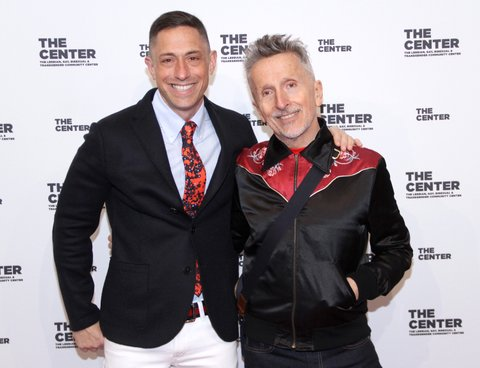 NEW YORK, NY - APRIL 20:  Jonathan Adler and Simon Doonan arrive for The Center Dinner 2017 to honor Hillary Rodham Clinton and Marc Jacobs at Cipriani Wall Street on April 20, 2017 in New York City.  (Photo by Donna Ward/Getty Images)