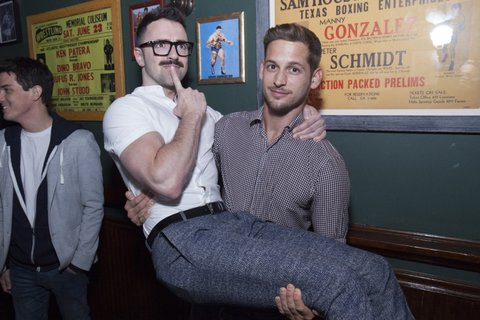 NEW YORK, NY - APRIL 20:  Matteo Lane and Max Emerson attend Logo TV Fire Island Premiere Party at Atlas Social Club on April 20, 2017 in New York City.  (Photo by Santiago Felipe/Getty Images for VH1 & Logo Communications)