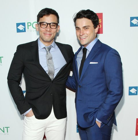 NEW YORK, NEW YORK - APRIL 11:  Actor Conrad Ricamora and Jack Falahee attend the 2016 Point Honors Gala at New York Public Library on April 11, 2016 in New York City.  (Photo by Bennett Raglin/WireImage)