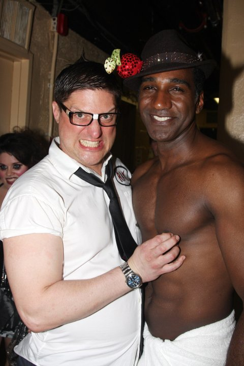 Christopher Sieber and Norm Lewis pose at BROADWDAY BARES 19.0: CLICK IT!on Broadway at Roseland on June 21, 2009 in New York City. (Photo by Bruce Glikas/FilmMagic)