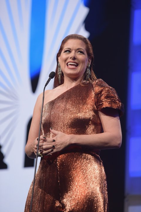 NEW YORK, NY - MAY 06:  Debra Messing accepts the Excellence in Media award at the the 28th Annual GLAAD Media Awards at The Hilton Midtown on May 6, 2017 in New York City.  (Photo by Jason Kempin/Getty Images for GLAAD)