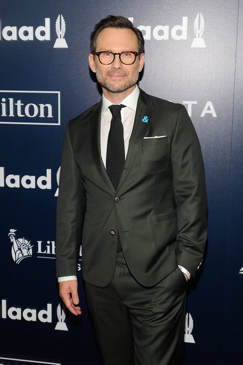 NEW YORK, NY - MAY 06:  Actor Christian Slater attends as Ketel One Vodka sponsors the 28th Annual GLAAD Media Awards in New York at The Hilton Midtown on May 6, 2017 in New York City.  (Photo by Brad Barket/Getty Images for GLAAD)
