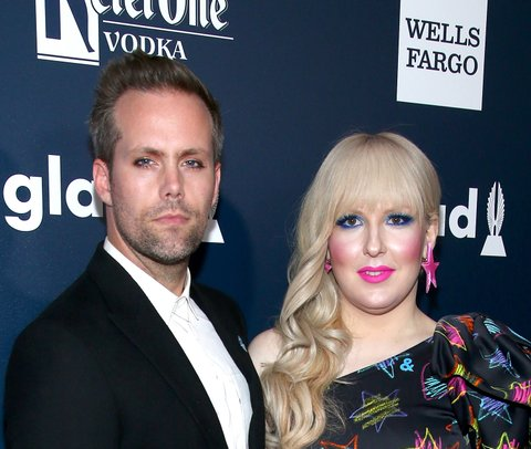 NEW YORK, NY - MAY 06:  Musician Justin Tranter (L) and Darian Darling attend the 28th Annual GLAAD Awards at New York Hilton Midtown on May 6, 2017 in New York City.  (Photo by Paul Zimmerman/WireImage)