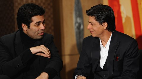LONDON, ENGLAND - FEBRUARY 03:  Karan Johar, Shah Rukh Khan and Kajol attend the 'My Name Is Khan' press conference at the Courthouse Hotel on February 3, 2010 in London, England.  (Photo by Ian Gavan/Getty Images)