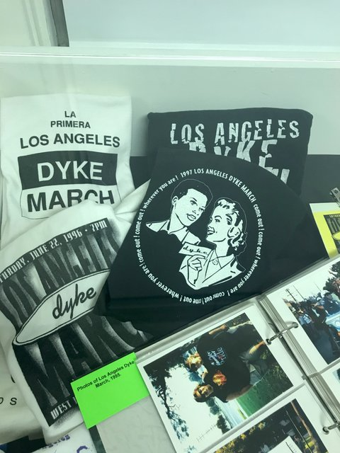 T-shirts from the first LA Dyke March