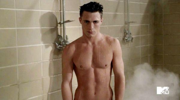gay black men in the shower