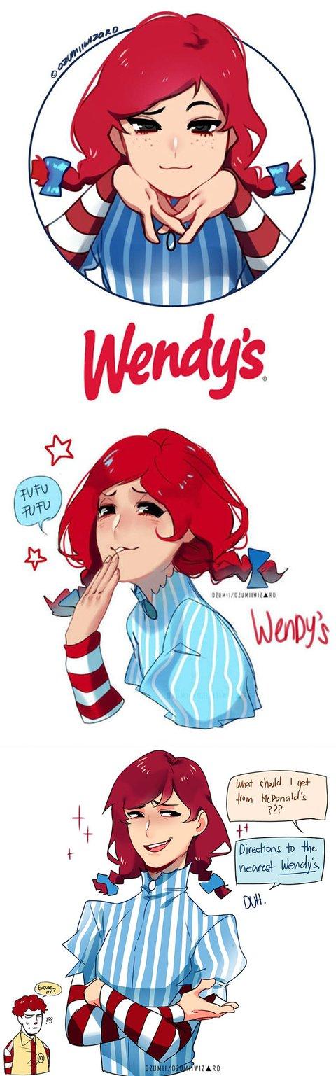 Anime Artist Turns Colonel Sanders Burger King Ronald McDonald