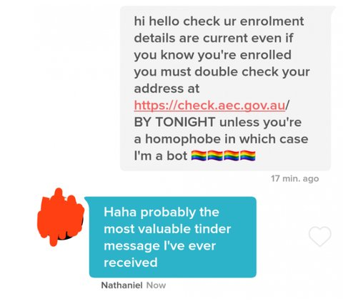 Tinder Suspended A Woman Who Kept Asking Matches If They Registered