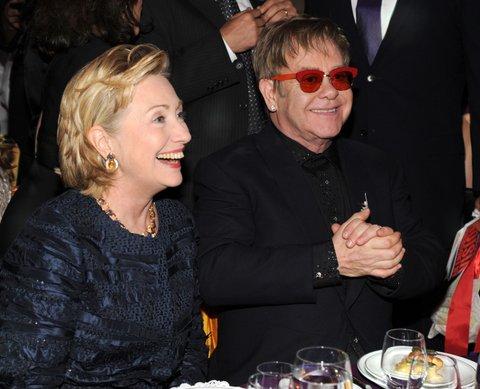 Hillary Clinton Elton John