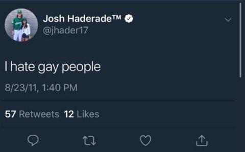Josh Hader homophobic