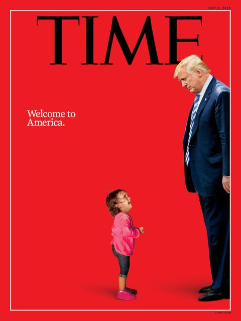 Trump and putin morphed into one on time cover newnownext trump time immigration thecheapjerseys Images