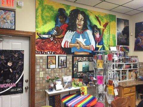 Comic Girl Coffee mural