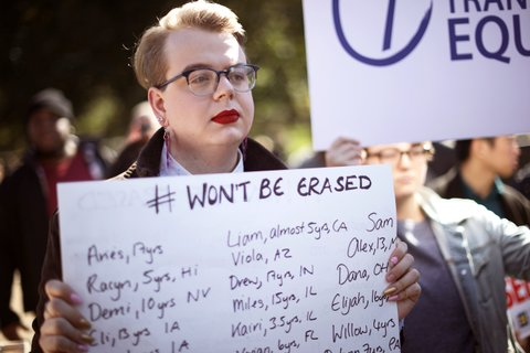 transgender memo protest