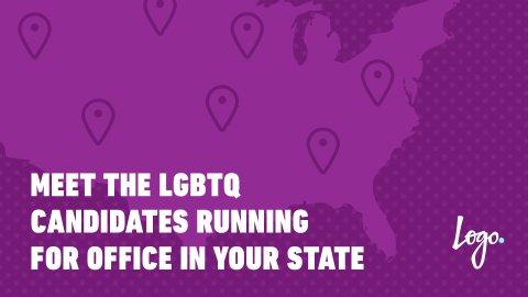 Logo interactive LGBTQ candidates electoral map