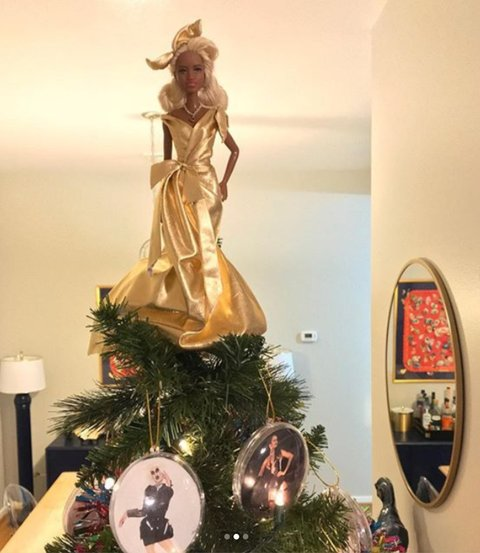 rupaul christmas tree angel