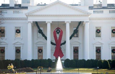 white house aids ribbon