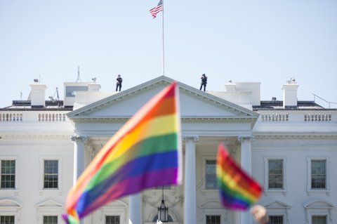 white house pride flags
