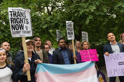 protesting trans ban