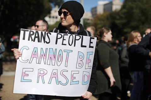 trans rights protest