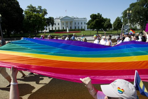 pride flag white house