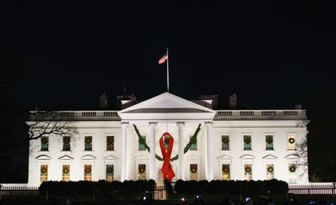 white house aids ribbon