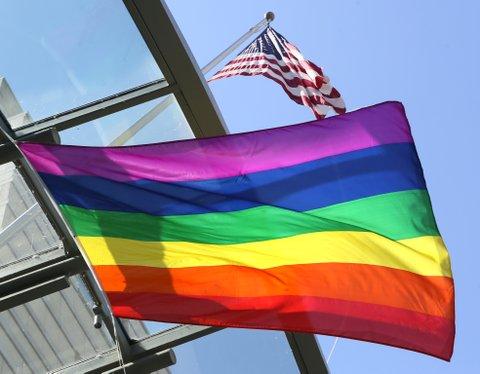 Pride flag U.S. embassy in Berlin