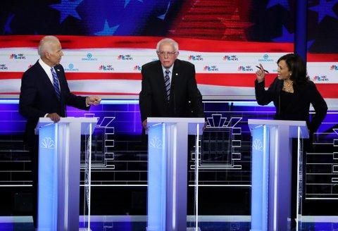 Democratic debate night 2 Joe Biden, Bernie Sanders, Kamala Harris