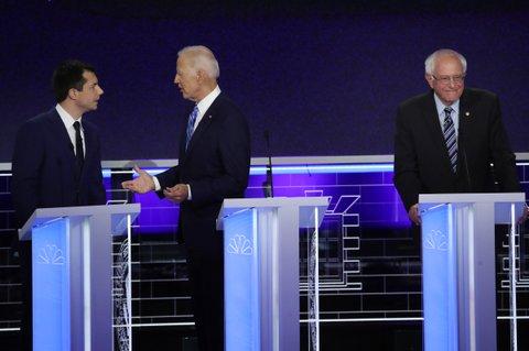 Democratic debate night 2 Joe Biden, Pete Buttigieg, Bernie Sanders