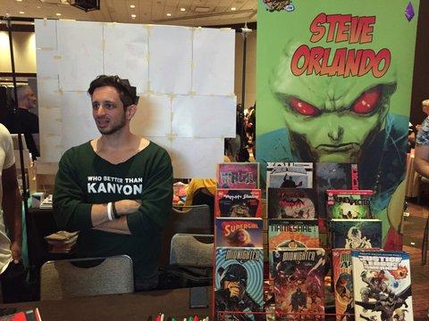 Steve Orlando at Flame Con 2019.